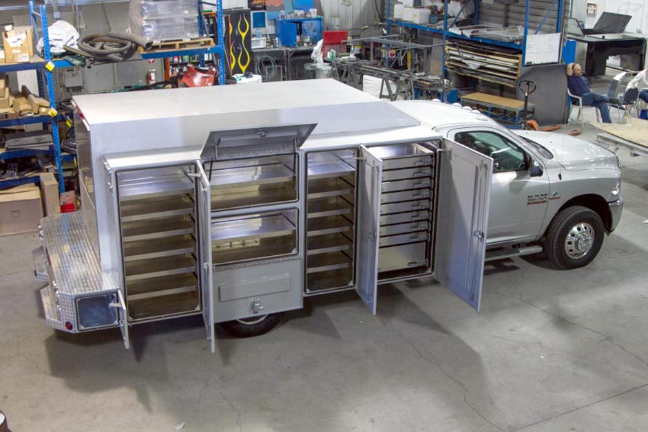 Service Body Tool Cabinet : Commercial truck success highway products