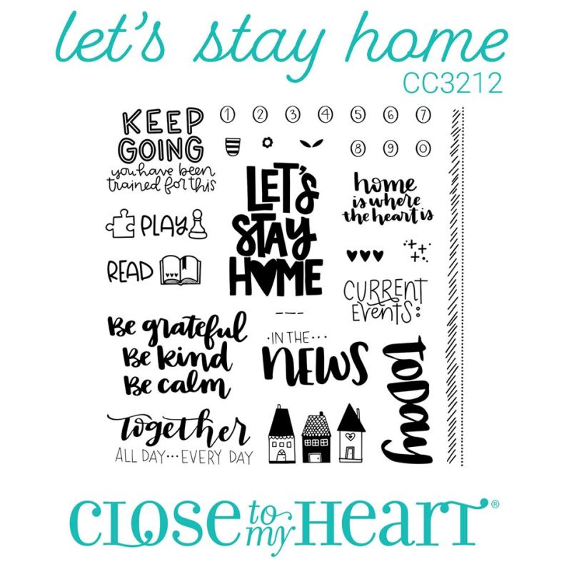 CTMH Lets Stay Home Stamp Set CC3212