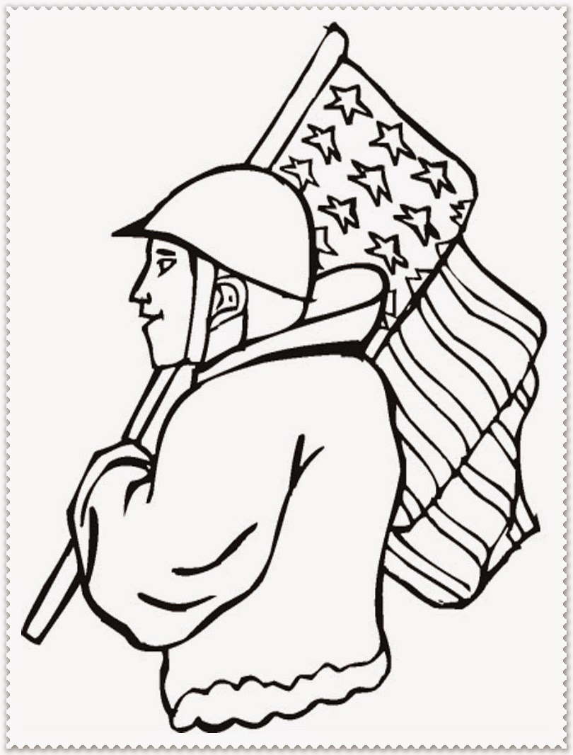 veterans day activities kindergarten sketch coloring page