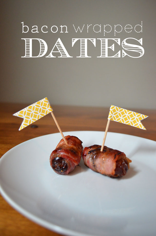 bacon-wrapped dates appetizer / pretty preened