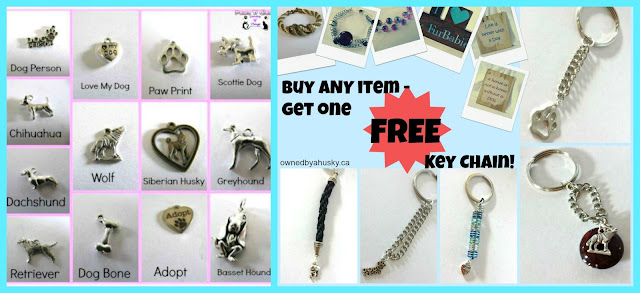 BUY ONE GET A FREE PET CHARM KEY CHAIN
