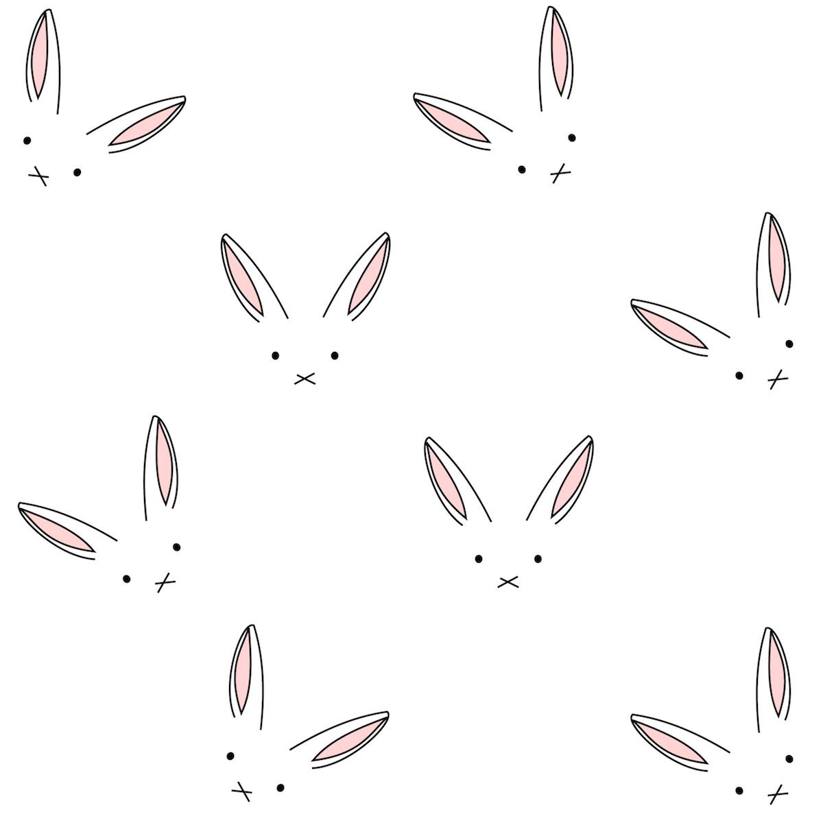 free digital bunny scrapbooking paper minimalist ausdruckbares