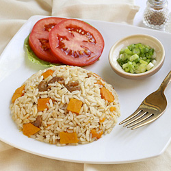 spiced rice and squash recipe with spices