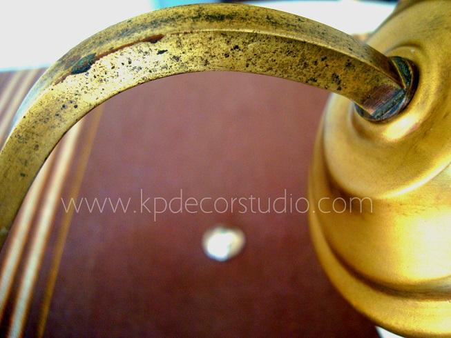 Kp tienda vintage online aplique antiguo de lat n con tulipa redonda vintage sconce in brass - Apliques de pared originales ...