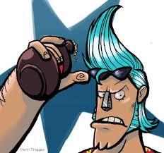 Franky (One Piece) Gaya Rambut Anime Galak