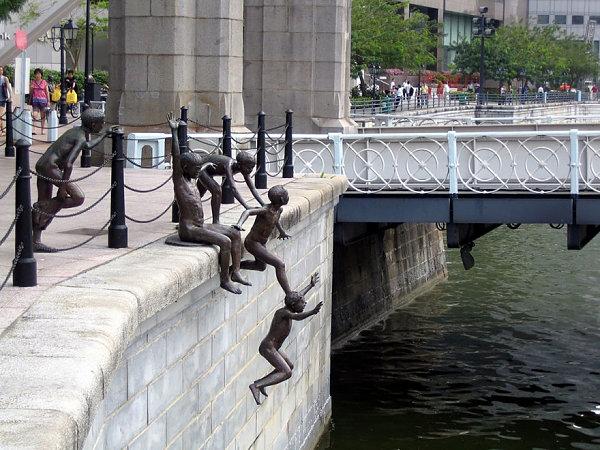 Río de la gente Por Chong Fah Cheong, Singapur