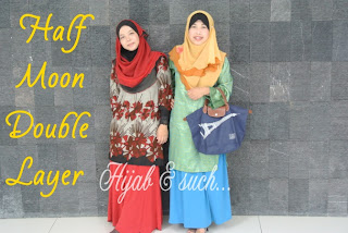 hijab and such, half moon double layer, half moon murah, chiffon