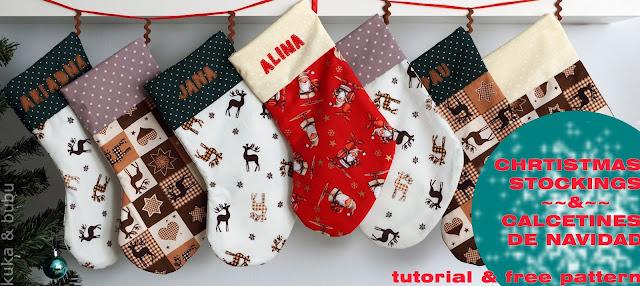 Kuka and bubu christmas stockings calcetines de navidad - Calcetines de navidad personalizados ...