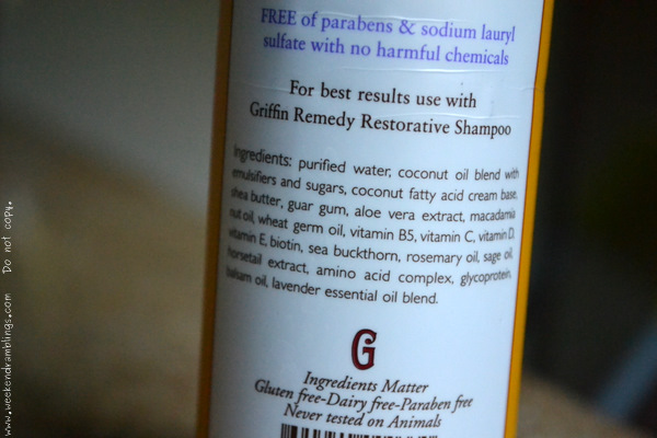 griffin remedy restorative shampoo shea butter macadamia nut oil dry damaged haircare blog reviews ingredients natural