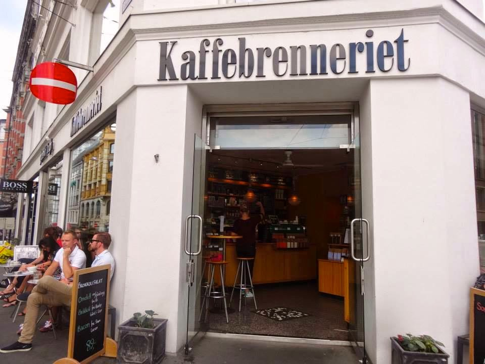 Kaffebrenneriet Cafe in Oslo the Front of the shop