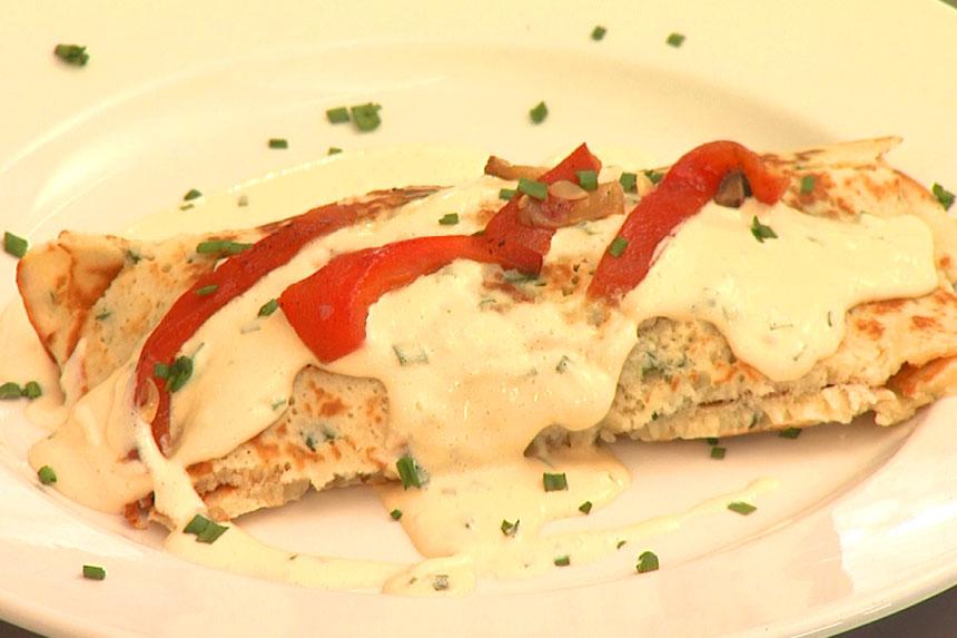 Veggie Hotdog Crepe Recipe