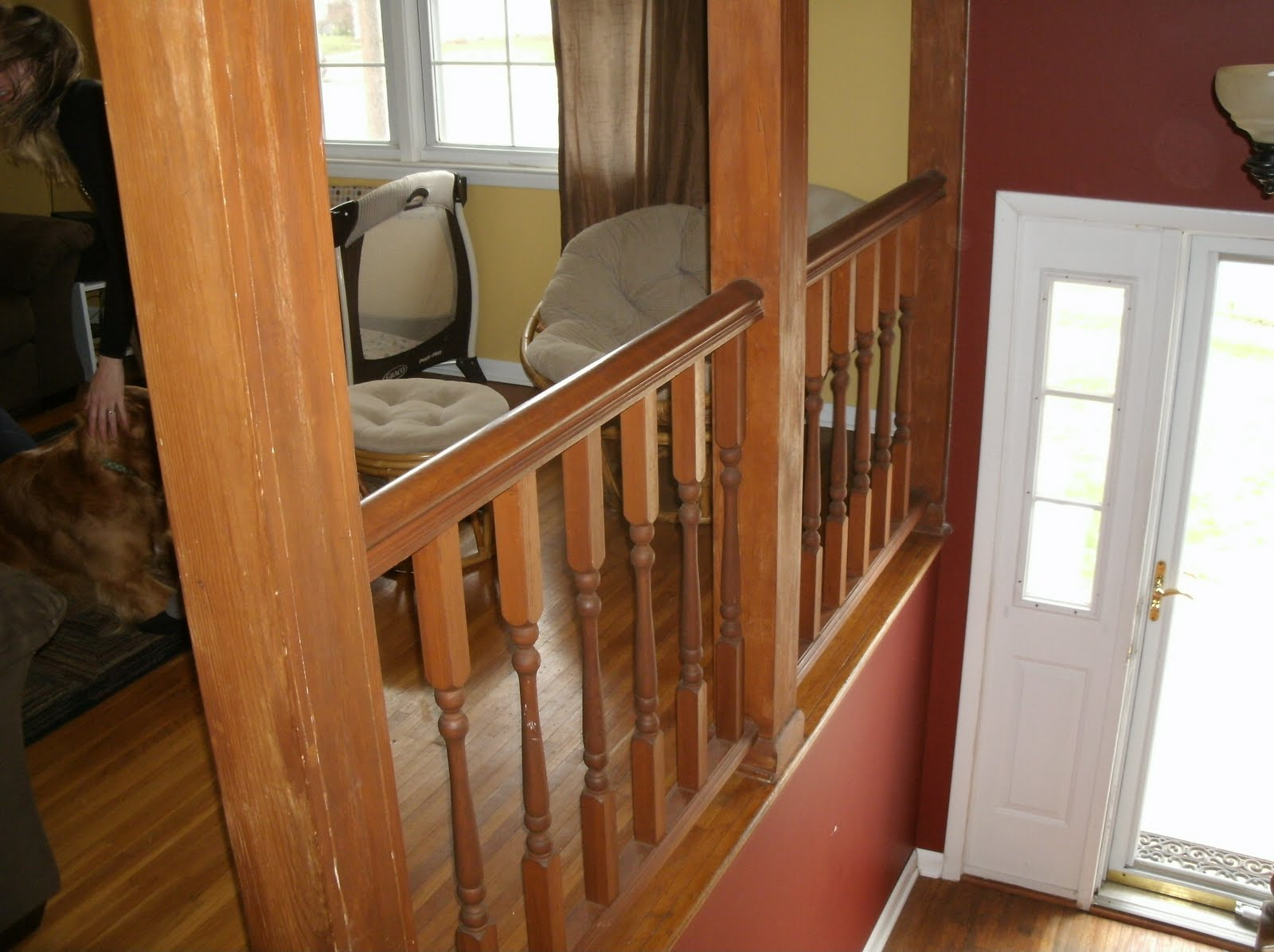 Oak Interior Stair Case Railing Designs, White Baluster Oak Stair Railings  Installation And Finishing