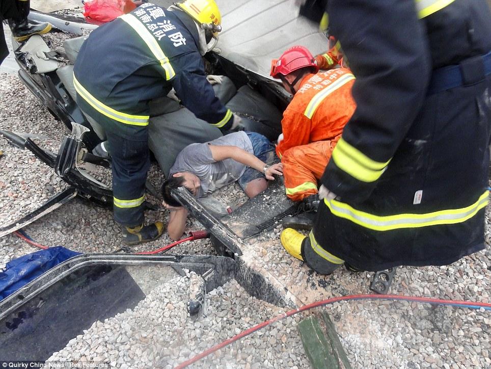 Graphic Car Crash Aftermath