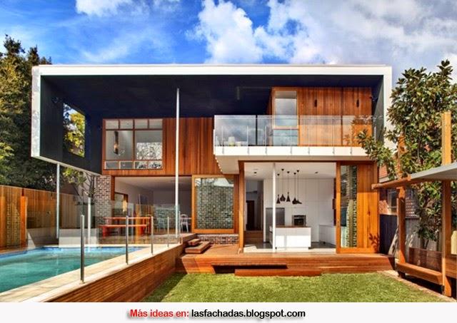 Fachadas de madera fachadas de casas y casas por dentro for Disenos de casas modernas por dentro