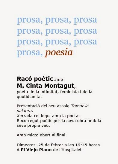 7è racó poètic L'Hospitalet