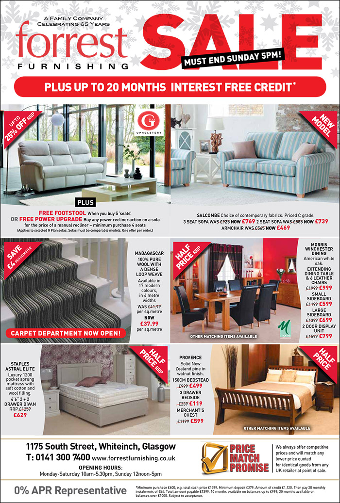 Forrest Furnishing Quality Funiture at everyday prices worth