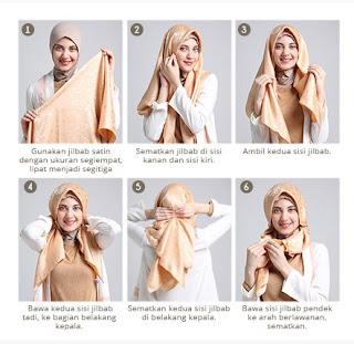 Contoh Tutorial Hijab Modern untuk Lebaran