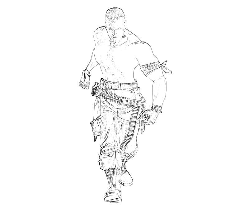 tekken coloring pages - tekken tag tournament bryan fury character mario