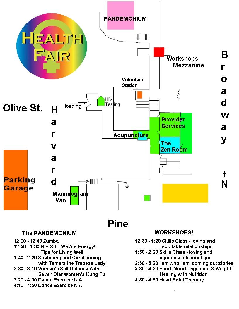 rainbow health fair map