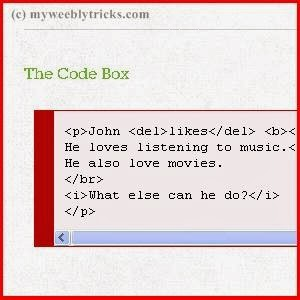 Adding Code Box to Weebly Post