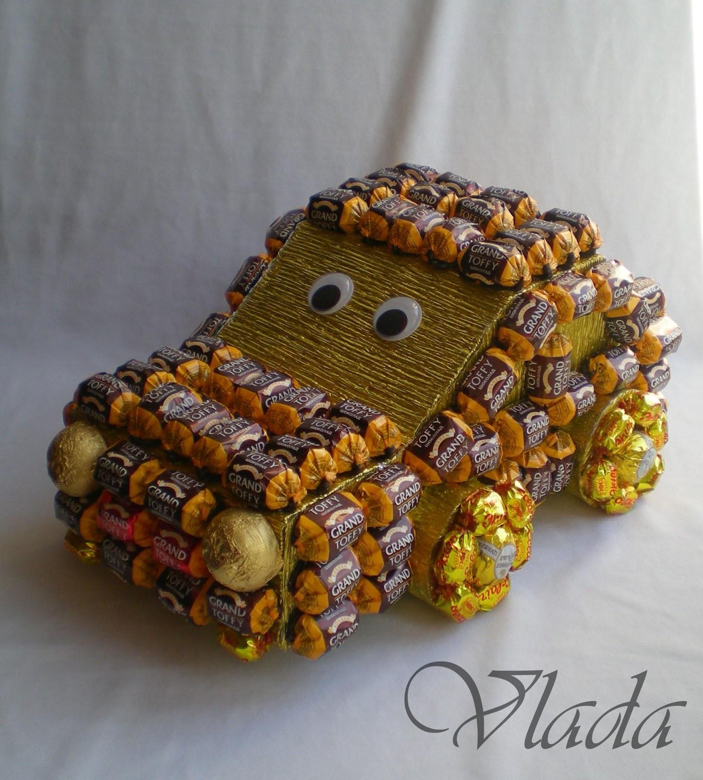 Машина из конфет своими руками пошаговое фото
