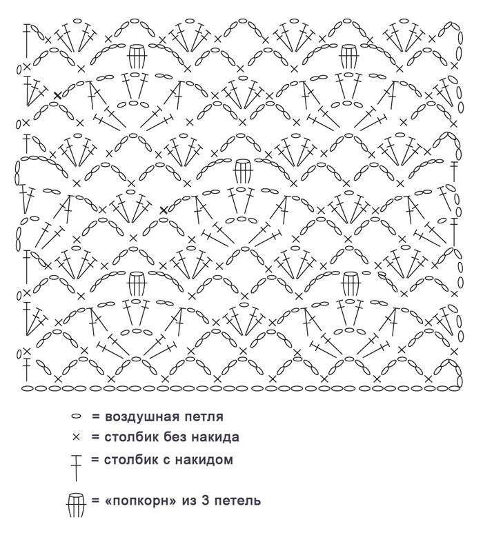 Вязанные цветочные узоры крючком схемы