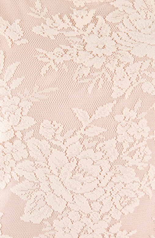 Pastel Pink Uptown Posh Lace Dress with ¾ Sleeves