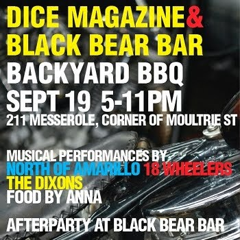 Dice/Black Bear Party. Brooklyn NY.  Friday September 19th