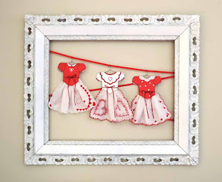Valentine Hanky Dress Display