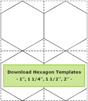Hexagon templates sheet
