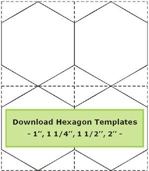 Hexagon templates sheet