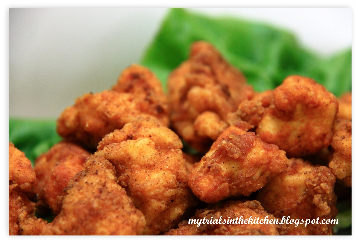 My Trials in the Kitchen: Hot & Spicy Popcorn Chicken #SundaySupper