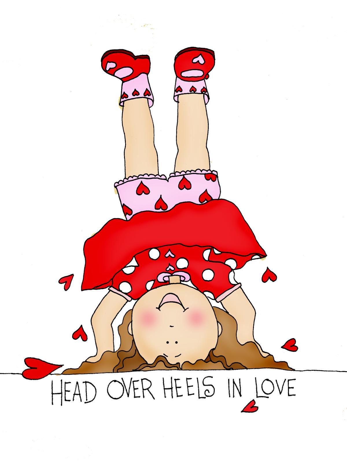 free dearie dolls digi stamps head over heels in love girl. Black Bedroom Furniture Sets. Home Design Ideas