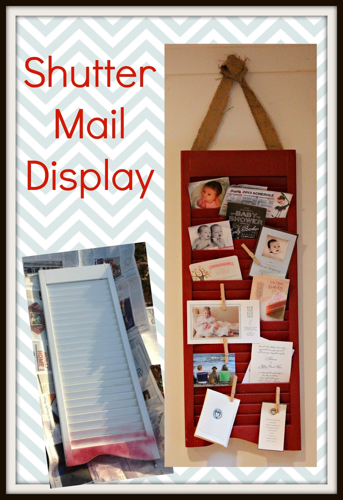 Youve Got Cute Mail DIY Shutter Display Southern