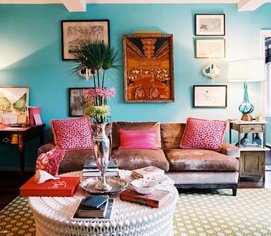 Decora o usando a cor azul cores da casa - Outstanding one room apartment decoration in bright white design ...