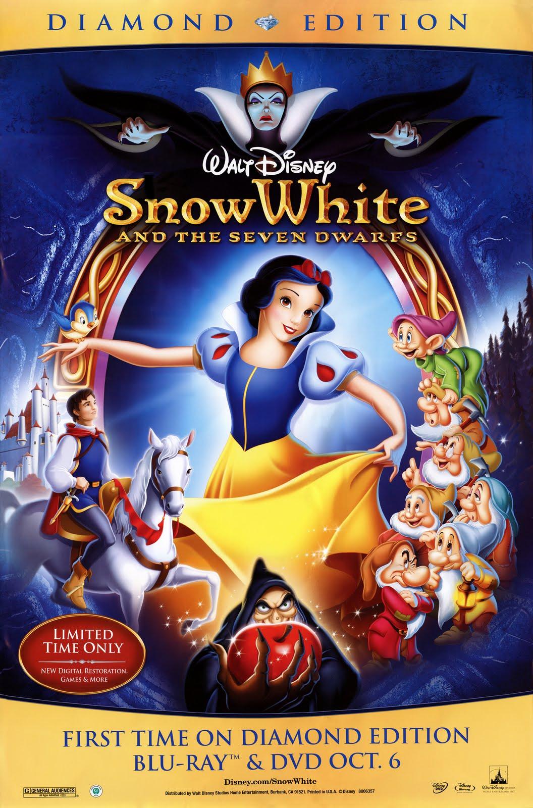 Les affiches du film Snow+White+%2526+The+Seven+Dwarves+%25281937%2529+2009+DVD+Poster