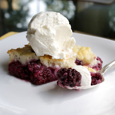 chocolate therapy: blackberry cobbler with biscuit topping