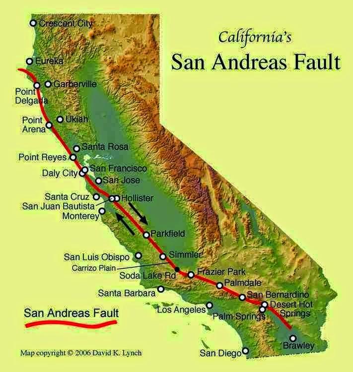 Сейсмологи США: разлом Сан-Андреас — он как водитель-придурок, который несется по трассе быстрее всех (12 фото)