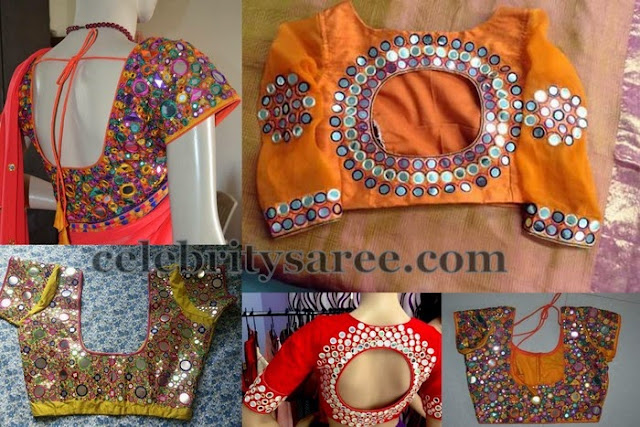 Mirror Work Bridal Blouse Designs
