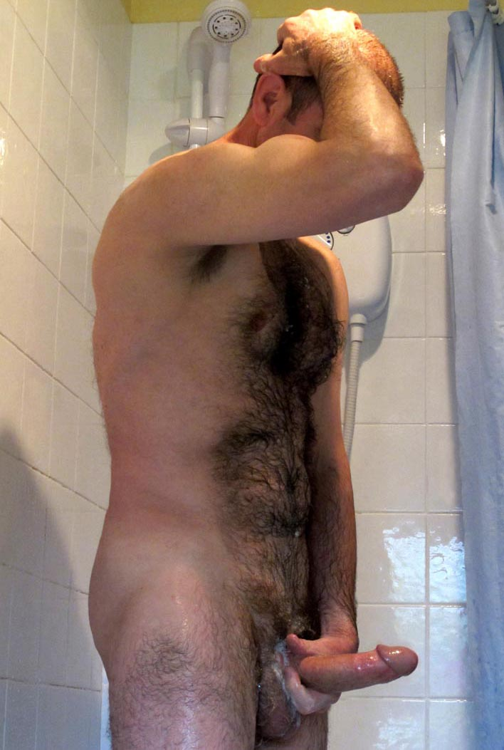 daddy naked at toilet