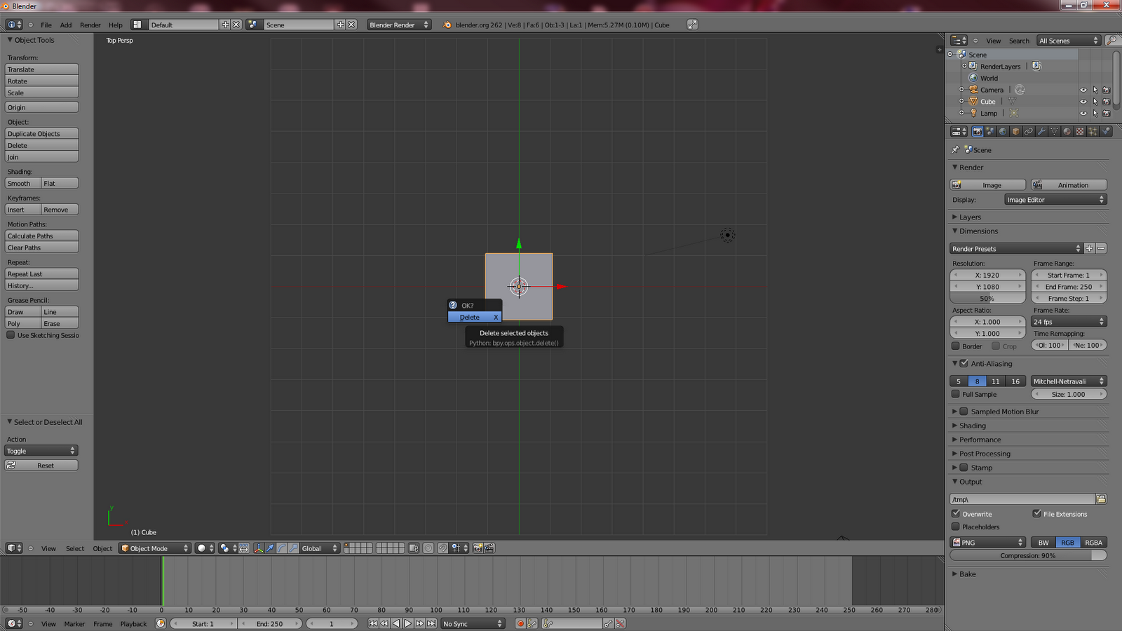 how to make a tab in blender