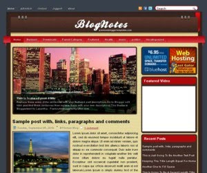 Blog Notes Blogger Template