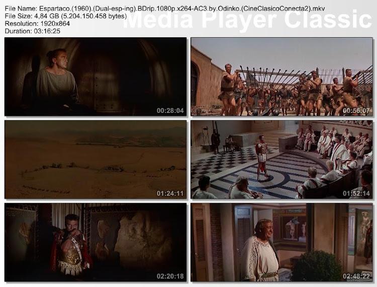 Espartaco | 1960 | Spartacus | Capturas de pantalla