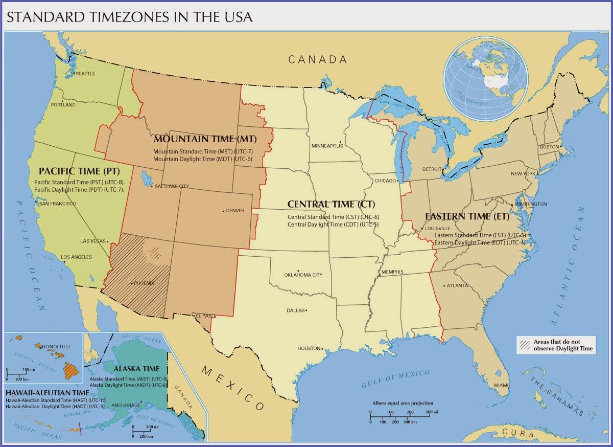 tidszoner usa