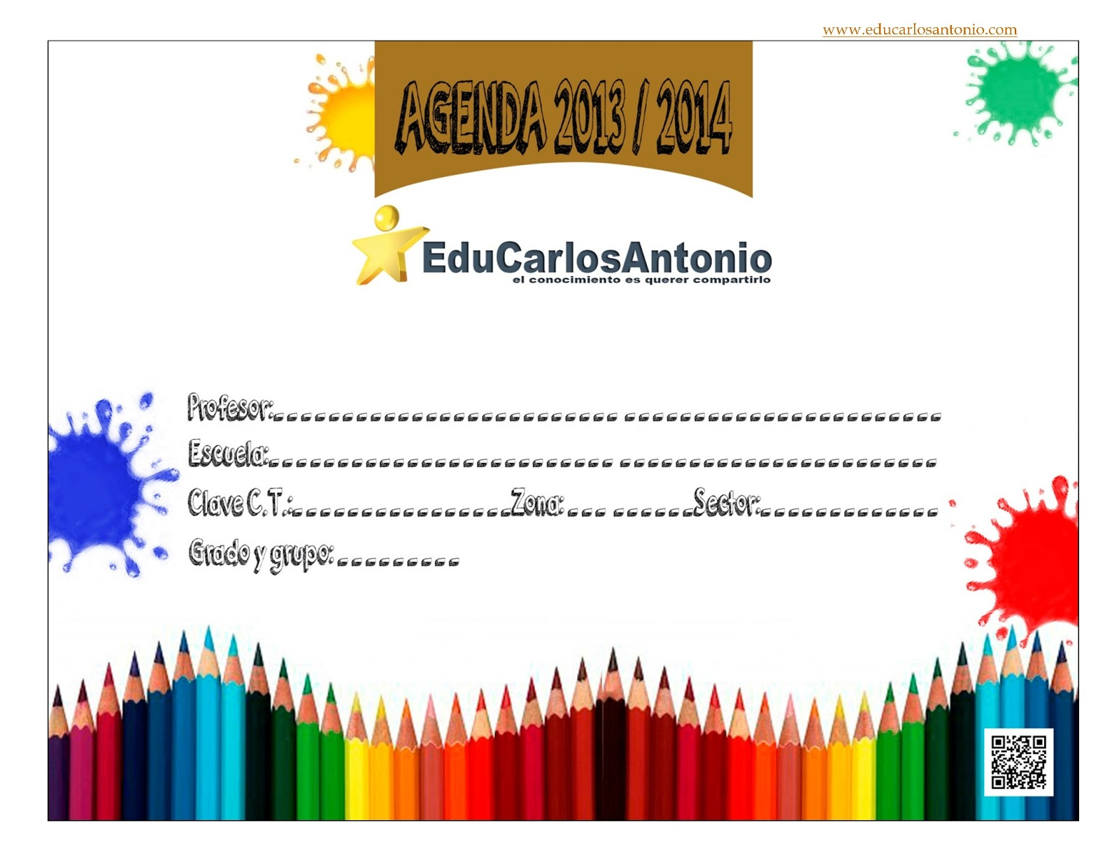 EduCarlosAntonio: Agenda escolar 2013-2014