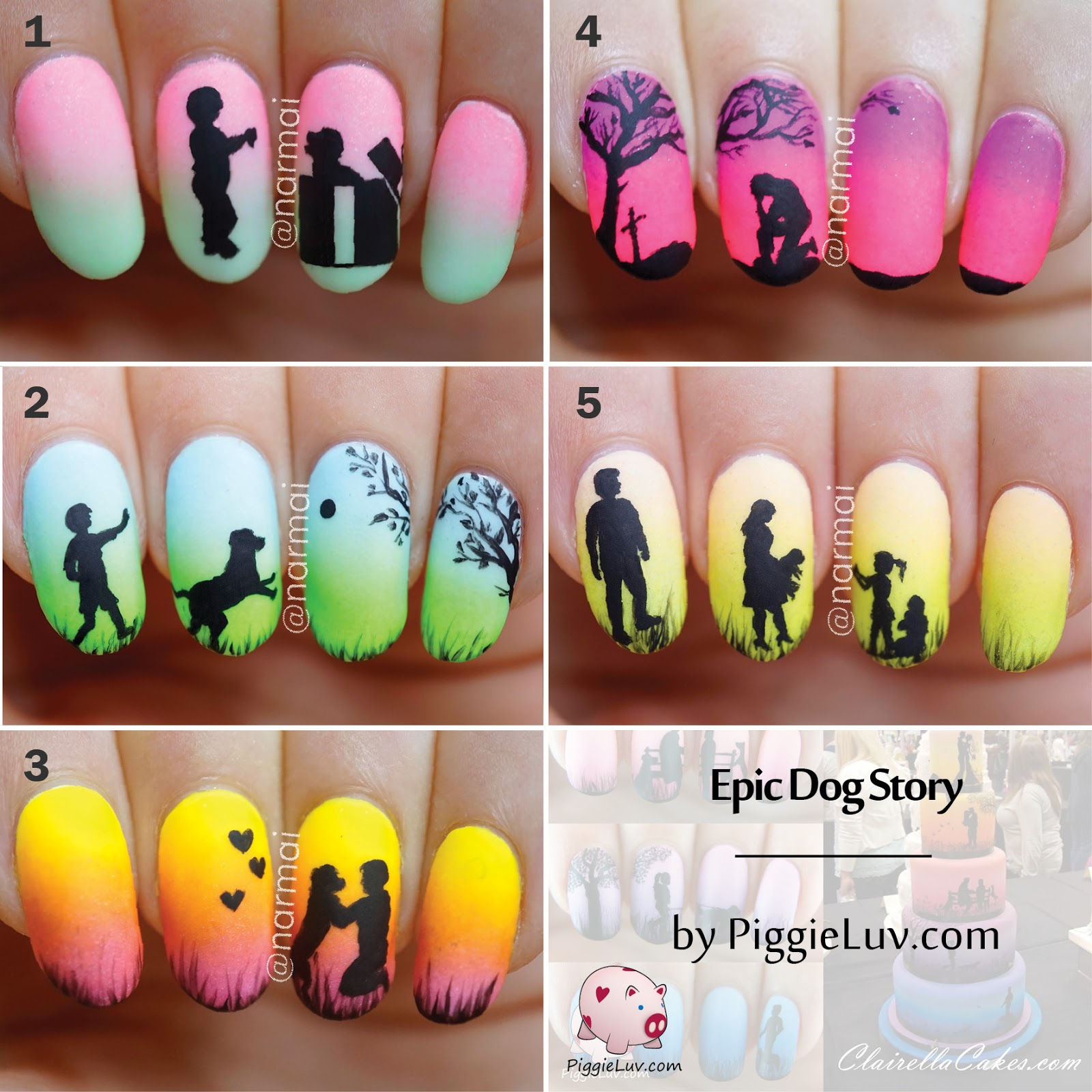 Piggieluv epic dog story 5 glow in the dark manis a big thank you to hypnotic polish for stocking serum no 5 and keeping my addiction fed and because i know you all like to pin these stories prinsesfo Image collections