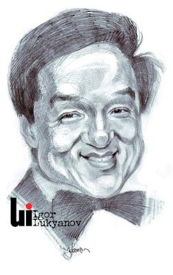 Caricature de Jackie Chan acteur(hachures croisées)
