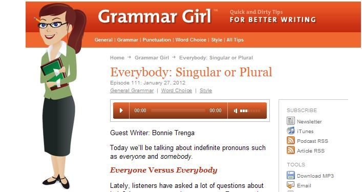 everybody is or everybody are grammar