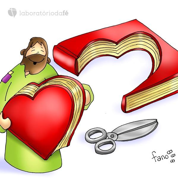 Imagem de fano para ilustrar a ligação entre a Palavra de Deus e o coração