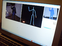 Kinect skeletal data